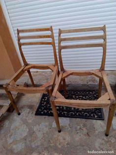 Vintage: lote 2 sillas silla vintage estilo noruego escandinavo - Foto 2 - 81037364