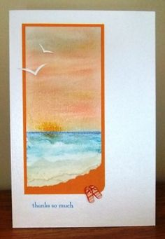 CAS218 Sunrise thanks by Tilly - Cards and Paper Crafts at Splitcoaststampers