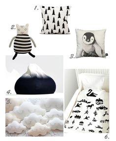 black & white children accessoires. the bedding set : http://www.rafa-kids.com/shop/visiontest-bedding-set/