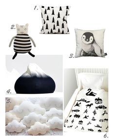 black & white children accessoires. the bedding set : http://www.rafa-kids.com/shop/visiontest-bedding-set/