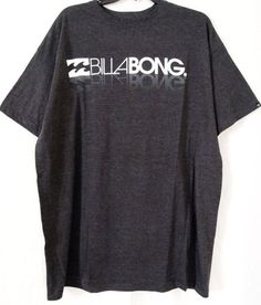Men's Billabong Gray & White Short Sleeve T-Shirt Tee Organic Size XL X-Large. On Sale $10.99 with FREE SHIPPING