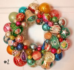 Vintage Christmas Ornament Wreath Shiny Brite No.2   georgiapeachez