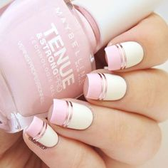 Charming Designs Using Nail Tape. Best Pink Nails Designs to Look Romantic and Girly #naildesignsjournal #nails #pinknails