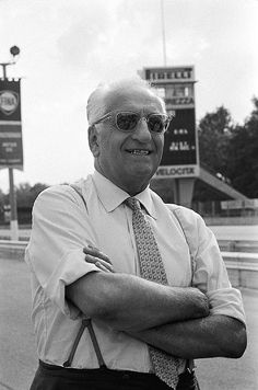 "Enzo Anselmo Ferrari, (February – August The founder of the Scuderia Ferrari Grand Prix motor racing team, and subsequently of the Ferrari automobile marque. He was often referred to as ""il Commendatore"" or ""il Drake"". Ferrari Racing, Ferrari F1, Jochen Rindt, Racing Events, Racing Team, Auto Racing, Drag Racing, Vintage Racing, Formula One"