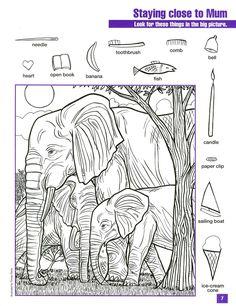 Visuele discriminatie; zoek vormen in een tekening