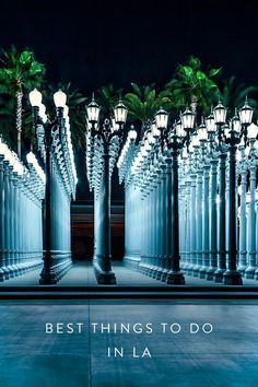 Visiting Los Angeles soon? Here are some of the best things you can do in the City of Angels. Seeing the lights outside of LACMA is a must! They're so pretty at night :)