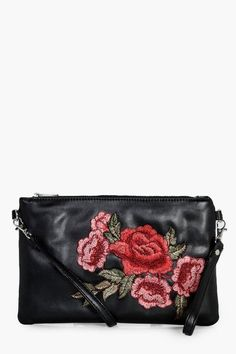 Stylish Lacey Floral Embroidered Cross Body Bag - boohoo purse handbag accessories