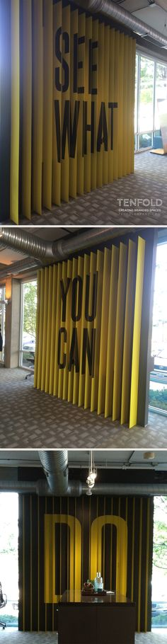 See What You Can Do! Parallax wall at Dupler Office designed by TENFOLD in Columbus Ohio.  #TENFOLD