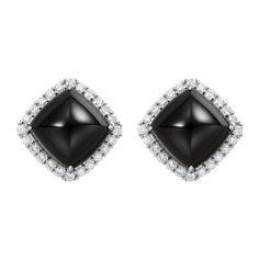 Paolo Costagli Black Jade & Diamond Earrings