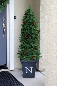 DIY Evergreen topiary from a tomato cage!