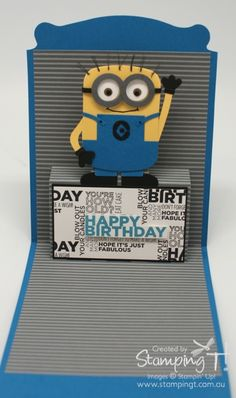 Stampin' Up! Exclusive Pop 'n Cuts Base die, Dress form insert, and amazing creativity! Love it! Stampin' Up! Stamping T! - One in a Minion Open