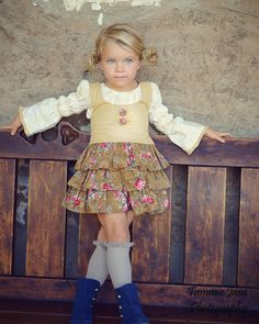 New for Fall 2012 Ruff-lee Ruff-lee Girls Toddler Jumper Skirt in Tobacco Back to School. $64.99, via Etsy.