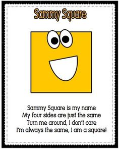 Shape Poems Posters will brighten up any primary classroom. These are a hit on teachers pay teachers! Preschool Poems, Preschool Classroom, Preschool Learning, Kindergarten Math, Preschool Activities, Preschool Shapes, Shape Activities, Primary Classroom, Maths Eyfs