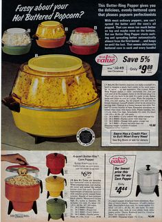 Electric Popcorn Poppers--Took these to college with us!