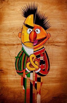 Bert & Ernie by Shorty Fatz - Contributed art for Sesame Street themed show, a benefit for City of Hope's Department of Pediatrics.