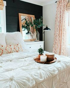 This is a Bedroom Interior Design Ideas. House is a private bedroom and is usually hidden from our guests. Much of our bedroom … Dream Bedroom, Home Decor Bedroom, Design Bedroom, Modern Bedroom, Dark Cozy Bedroom, Yellow Master Bedroom, Bedroom Pics, Whimsical Bedroom, White Wall Bedroom