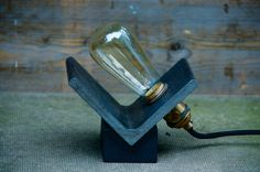 Items similar to Industrial Fire Switch Lamp on Etsy
