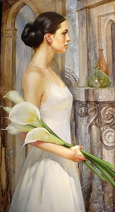 Dear Joyce, I chose this beautiful painting by Yuri Yarosh for you. It's so feminine...! Have a wonderful weekend! Carmen xoxo