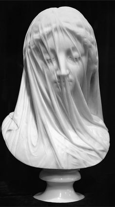 Awesome The Veiled Virgin by Giovanni Strazza The Veil Gives the Appearance of Being Translucent but in fact It Is Carved of Marble. Roman Sculpture, Metal Sculptures, Abstract Sculpture, Wood Sculpture, Bronze Sculpture, Bernini Sculpture, Sculpture Romaine, Renaissance Kunst, Greek Statues