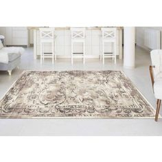 Bliss Rugs Lara Transitional Area Rug, White