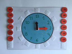 Aprendemos las horas con este reloj manipulativo. Más información y descargas en la web. Aba Therapy Activities, Montessori Activities, Alphabet Activities, Teaching Time, Teaching Kindergarten, Preschool Learning, Back To School Crafts For Kids, Math For Kids, Learning Clock