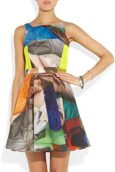 Chalayan|Speed Flare printed cotton dress|NET-A-PORTER.COM