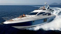 Sail Across the Ocean Blue in Style with the Azimut 64 #yachts trendhunter.com