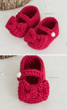 Ruby Red Mary Jane Booties - Free Crochet Pattern by Hopeful Honey