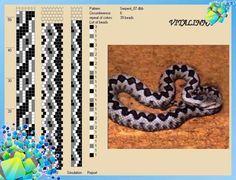 18 схем для вязания бисерных жгутов к Новому 2013 году с узорами: змея, питон, удав