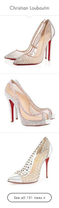 Christian Louboutin by mrseclipse ❤ liked on Polyvore featuring shoes, pumps, heels, christian louboutin, sapatos, grenadine, stiletto high heel shoes, christian louboutin pumps, transparent high heel shoes and heel pump