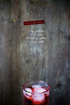 Opskrift på jordbærsaft
