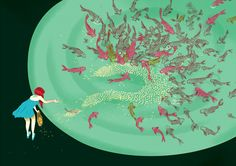 New Illustrations by Marcos Chin, via Behance