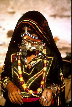 A bedouin woman in the Negev Desert, Israel. The Negev is a desert and semidesert region of southern Israel. The region's largest city and administrative capital is Beersheba, in the north. (V)