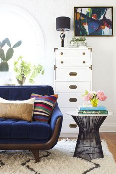 Decorating Ideas to Try That Cost Practically Nothing! | Campaign Dresser, Living Rooms and Couch