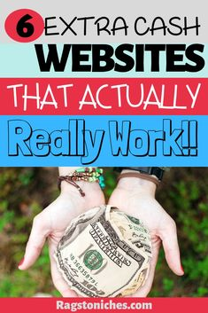 Looking to make extra cash online? Check out my top extra income websites that work. If you're looking to make money online, make extra cash from home, or just some pocket money check these out. make money online extra cash Best Online Jobs, Online Cash, Online Work, Cash From Home, Earn Money From Home, Make Money Fast Online, Way To Make Money, Hustle Money, Fortune