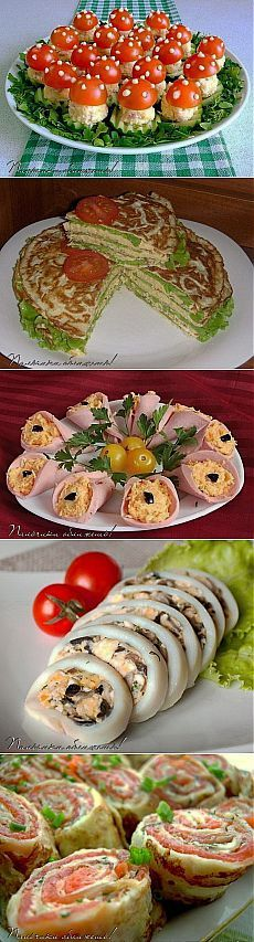 Beautiful New Year's snacks . Fingers Food, Appetizer Sandwiches, Xmas Food, Snacks Für Party, Food Decoration, Food Platters, Russian Recipes, Frappuccino, Food Humor