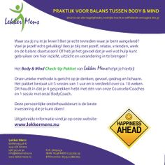 Body & Mind Check-Up Pakket www.lekkermens.nu