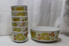Set of Corning Centura Summerhill Bowls by PamelaMurphyVintage, $42.00