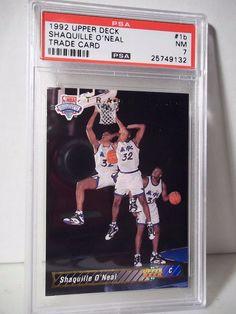 1992 Upper Deck Shaquille O'Neal RC PSA VG-EX 4 Basketball Card #1b NBA…
