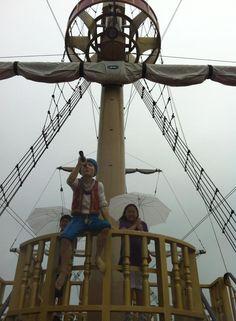 『箱根芦ノ湖』荒れ模様でしたが、今日も海賊船はフル