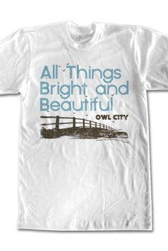 Fence (White) owl city shirt