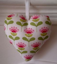 Hey, I found this really awesome Etsy listing at https://www.etsy.com/listing/161661846/retro-floral-fabric-hanging-heart-with