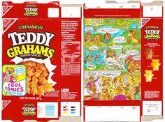 Nabisco wrappers | 1992 Nabisco Cinnamon Teddy Grahams Box Comics
