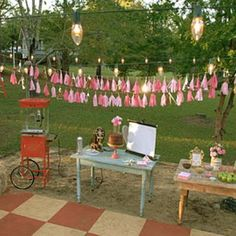 Sparkly Outdoor Movie Party Birthday Party Ideas} This girly outdoor movie birthday party with vintage charm is phenomenal! Outdoor Movie Birthday, Outdoor Movie Party, Birthday Bbq, Movie Night Party, 13th Birthday Parties, Birthday Party Games, Movie Nights, 16th Birthday, Birthday Ideas