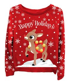 Look what I found on #zulily! Rudolph the Red-Nosed Reindeer Sweatshirt - Juniors by Freeze Juniors & Ladies #zulilyfinds