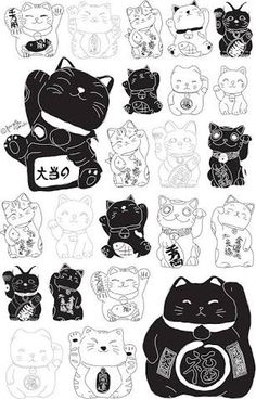 Image result for lucky cat drawing