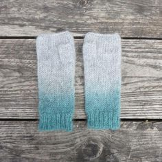 Mohair dip-dyed fingerless gloves with thumbholes, Designed in UK, Made in Nepal supporting local industry with fairtrade policies Crochet Gifts, Knit Crochet, Ombre Effect, Christmas Catalogs, Wrist Warmers, Ombre Color, Hat Making, Fingerless Gloves, Hand Knitting
