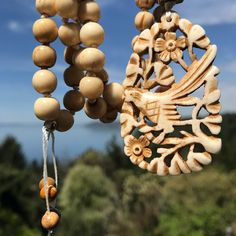 Every time I look at this Mala, I fall a bit deeper in love. 📿💙 . Bone beads and hand carved pendant from India with sterling silver and yellow jasper accent beads. . This gorgeous piece will be added to my #etsyshop today! . . #malabeads #handmadejewelry #bonejewelry #spiritbird #oneofakind #jewelrydesigner #instajewelry #pendant #uniquejewelry