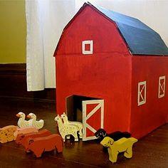 cardboard box play house