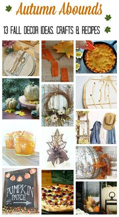 You'll love these 13 Fall Decor, DIY, Craft and Recipe Ideas! | www.settingforfour.com